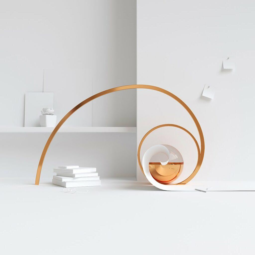 boutique furniture design 3D swirl