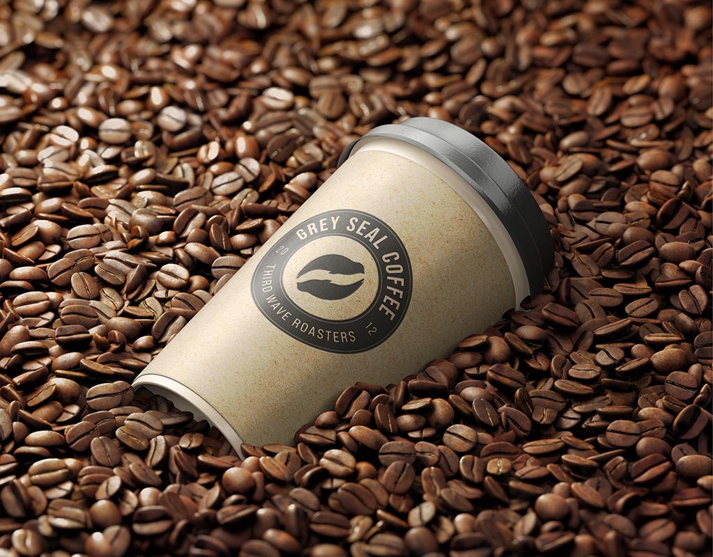 Grey Seal Coffee Cup Design by Mark Byford