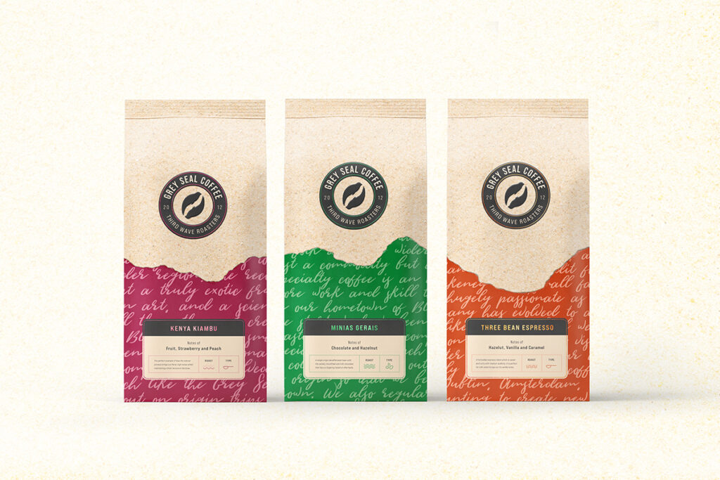 Grey Seal Coffee Packaging by Mark Byford