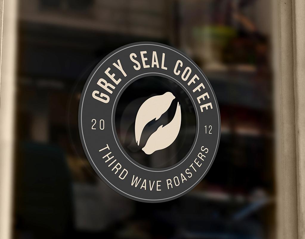 Grey Seal Coffee Shop Sign by Mark Byford