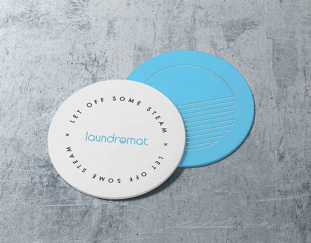 Laundromat Cocktail Bar Drinks Mats by Mark Byford