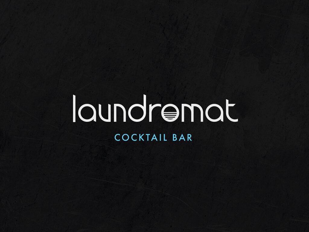Laundromat Cocktail Bar Logo by Mark Byford