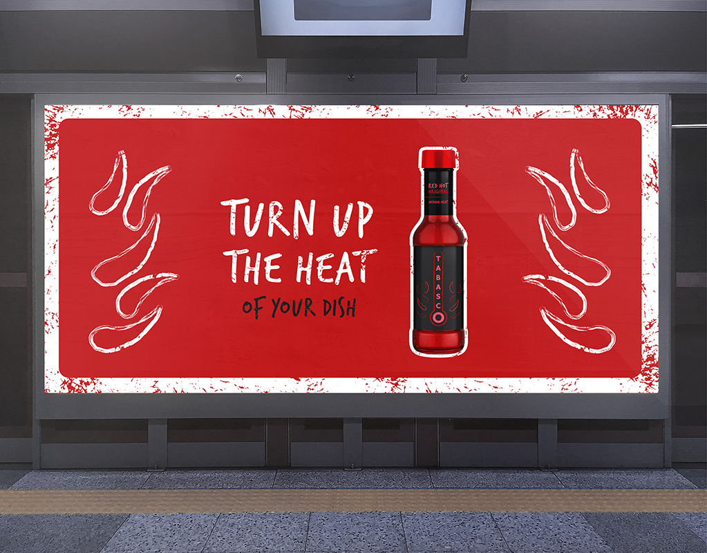 Tabasco Billboard Advertising by Mark Byford