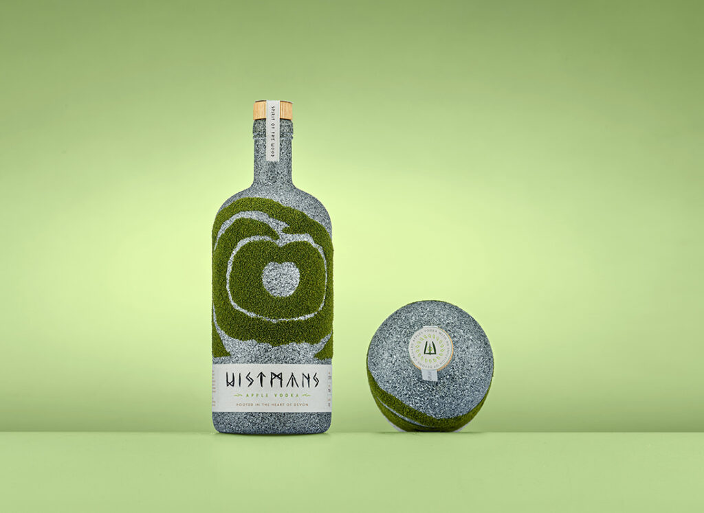 Wistmans Apple Vodka Bottle Design by Mark Byford