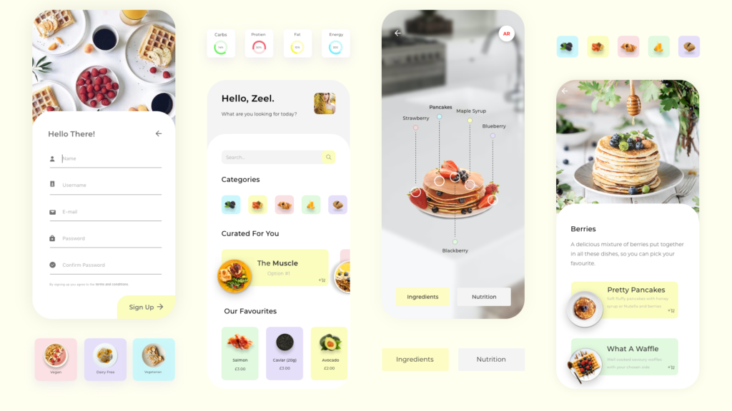 Recipe UX/UI Design by Zeel Jethwa