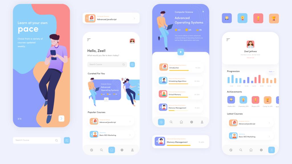 Study App Design by Zeel Jethwa